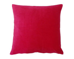 JITI - Pink Velvet Pillow - Who can resist a classic? With this velvet throw pillow, available in oodles of sizes and colors, you won't have to! Ideal for mixing and layering, go ahead and experiment. Change your look as often as you can move this one here, and that one there. Anywhere it lands, it's a perfect fit.