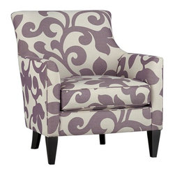 Clara Chair - This whimsical upholstered armchair will bring an oversized abstract botanical print to your living room or bedroom. Make no mistake, it will be the star of the room!