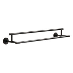 "Delta - Delta 75925-RB Trinsic 24"" Double Towel Bar - Delta 75925-RB Trinsic 24"" Double Towel Bar. Trinsic 24"" Oil Rubbed Bronze Double Towel Bar. If you are looking to eliminate the clutter from your bathroom, and add both style, functionality, and European sophistication for your bathroom, then this Trinsic wall mounted Double Towel Bar is perfect. Included is the hardware needed to mount it, and a Lifetime finish warranty"
