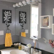 Eclectic Bathroom by Nichole Loiacono Design