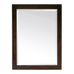 Avanity - Madison 28 in. Mirror - You'll look your very best in this classic mirror. With a frame of solid poplar in a tobacco finish, it's the last word in classic, simple style and the finishing touch to your handsome bathroom.