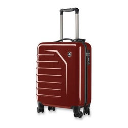 Victorinox - Victorinox Spectra 21-Inch Carry-On Spinner in Red - Victorinox Spectra by Swiss Army is ideal for short trips and meets most global carry-on regulations. Comfort grip on-touch, dual-trolley aluminum handle system locks into three different positions.
