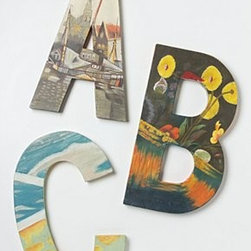 "Swarm - Handpainted Still Life Monogram - By Swarm for AnthropologieCanvas, paint 18""H, 12""W, 0.75""DImported"