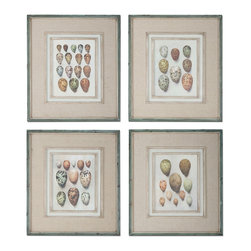 Uttermost - Uttermost Study Of Eggs 4 Framed Art Panels - 4 Framed Art Panels belongs to Grace Feyock Collection by Uttermost These Oil Reproductions Feature A Hand Applied Brushstroke Finish And Are Accented By Gray, Oatmeal Linen Mats. Frames Have An Outer Edge In Lightly Distressed, Muted Aqua Undertones With A Heavy Charcoal Wash. Inner Lips And Fillets Have An Off-white Undertone With Heavy Taupe Wash. Wall Art (4)