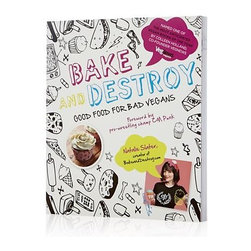 "Bake and Destroy: Good Food for Bad Vegans Cookbook - Not just for vegans, this new breed of cookbook from talented and offbeat author Natalie Slater—who cites among her culinary influences the likes of TV, pro wrestling, punk rock and heavy metal—is a breath of fresh fare for any cook looking for a new perspective. As evidenced by the foreword from pro wrestling champ CM Punk, there's nothing staid or predictable about Slater's flavor-forward, fun dishes using familiar ingredients minus the animal products. Creative baked goods such as caffeine-spiked ""bike messenger"" brownies and nacho cupcakes move on to savory dishes, including an Indian buffet pizza and a Thai ""Dagwood"" sandwich. This conversational book is filled with wry observations and pop-culture references that bring Slater's lively persona into your kitchen."