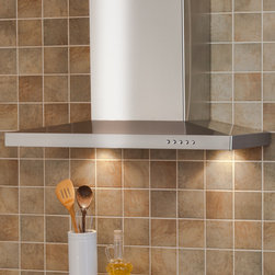 """24"""" Parma Series Stainless Steel Wall-Mount Range Hood - 860 CFM - Add a modern style to your small kitchen by adding the 24"""" Parma Series Stainless Steel Wall-Mount Range Hood. This petite range hood features an understated hood design and prominent flue."""