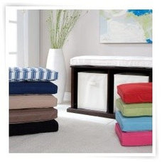 The Caldwell Storage Bench Collection - Vanilla - Bookcases at Book Cases Galore