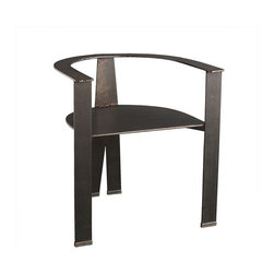 Architectural Iron Chair | Wisteria - This horseshoe of an iron chair is a good way to introduce some sculpture and metal as an occasional chair in a living room, or makes for some interesting host and hostess chairs in a pair, or you might love it so much you decide to make a whole set of them your dining room chairs. Start with one. See how it goes!