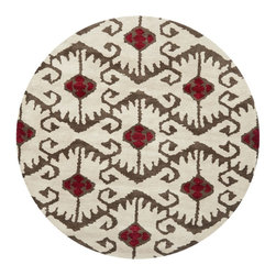 Safavieh - Contemporary Wyndham Round 7' Round Ivory-Brown Area Rug - The Wyndham area rug Collection offers an affordable assortment of Contemporary stylings. Wyndham features a blend of natural Ivory-Brown color. Hand Tufted of Wool the Wyndham Collection is an intriguing compliment to any decor.