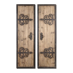 Uttermost - Uttermost 07630 Abelardo Rustic Wood Panels Set of 2 - Uttermost 07630 Abelardo Rustic Wood Panels Set of 2