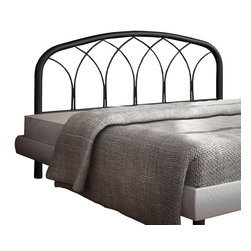 Monarch Specialties - Monarch Specialties I 2620Q Sandy Black Queen/Full Size Combo Headboard or Footb - This sleek modern and design, featuring a durable metal construction and a unique weave design will be wonderful addition to your bedroom decor. With the ability to fit either a full or queen size bed frame, this headboard is a smart choice for your home. Finished in a sandy black, and this headboard can be also be used as a footboard to meet your decorating needs. Headboard or Footboard (1)