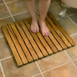 "30"" Square Teak Shower Mat - Help prevent slipping in or around your shower with this stunning 30"" Square Teak Wood Shower Mat. Left naturally unsealed, this mat can be easily finished."