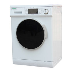 None - Equator 1000-RPM White Combo Washer/ Dryer - Get your clothing clean and dry in one machine with this convenient combination washer and dryer. Featuring a fast 1000-RPM spin speed, this combo appliance offers 14 unique settings and is energy saving to reduce costs.