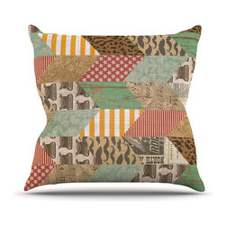 """Kess InHouse - Heidi Jennings """"Hodge Podge"""" Vintage Texture Throw Pillow (Outdoor, 18"""" x 18"""") - Decorate your backyard, patio or even take it on a picnic with the Kess Inhouse outdoor throw pillow! Complete your backyard by adding unique artwork, patterns, illustrations and colors! Be the envy of your neighbors and friends with this long lasting outdoor artistic and innovative pillow. These pillows are printed on both sides for added pizzazz!"""