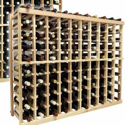 Wine Cellar Innovations - 3 ft. 10-Column Bottle Wine Rack (All-Heart Redwood - Light Stain) - Choose Wood Type and Stain: All-Heart Redwood - Light Stain. Bottle capacity: 100. Ten column wine rack. Versatile wine racking. Custom and organized look. Beveled and rounded edges ensures wine labels will not tear when the bottles are removed. Can accommodate just about any ceiling height. 45.69 in. W x 13.5 in. D x 35.94 in. H (28 lbs.). Vintner collection. Made in USA. Warranty. Assembly Instructions. Rack should be attached to a wall to prevent wobble
