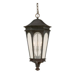 Capital Lighting - Traditional Classic 3 Light Outdoor Hanging LanternInman Park Collection - Features: Specifications: Since 1990, Capital Lighting has worked with residential, commercial, hotel and construction clients.