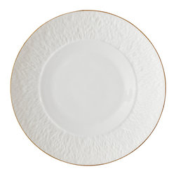 Raynaud - Mineral Gold Porcelain Dinner Plate - The Mineral Gold dinnerware, which is a refined creation of Thierry Cheyrou, plays with different surface textures. Grainy structures are combined with smooth, shiny areas to create a harmonious whole. Casual or formal, this collection offers great practicality and adapts to every occasion.