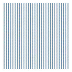 Aqua Ticking Stripe Cotton Fabric - Classic traditional cotton ticking stripe in blue & white.Recover your chair. Upholster a wall. Create a framed piece of art. Sew your own home accent. Whatever your decorating project, Loom's gorgeous, designer fabrics by the yard are up to the challenge!