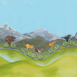 Murals Your Way - Tour Des Animaux Wall Art - Painted by Nancy Hadley, the Tour des Animaux wall mural from Murals Your Way will add a distinctive touch to any room