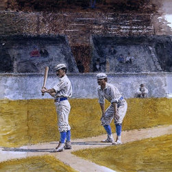 """Thomas Eakins Baseball Players Practicing - 16"""" x 20"""" Premium Archival Print - 16"""" x 20"""" Thomas Eakins Baseball Players Practicing premium archival print reproduced to meet museum quality standards. Our museum quality archival prints are produced using high-precision print technology for a more accurate reproduction printed on high quality, heavyweight matte presentation paper with fade-resistant, archival inks. Our progressive business model allows us to offer works of art to you at the best wholesale pricing, significantly less than art gallery prices, affordable to all. This line of artwork is produced with extra white border space (if you choose to have it framed, for your framer to work with to frame properly or utilize a larger mat and/or frame).  We present a comprehensive collection of exceptional art reproductions byThomas Eakins."""