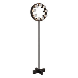 Robert Abbey - Robert Abbey Z2101 Rico Espinet Candela 9 Light Floor Lamp in Deep Patina Bronze - A sharp metal body paired with a round frame: The Candela Floor Lamp by Robert Abbey is brilliantly unexpected. The rare silhouette features bare white lamps for a plush Contemporary style. Candela includes a full range dimmer foot switch for ideal lighting.Metal body Full range dimmer foot switch UL ListedBase Dimension: 12-1 4 Bulb Type: Incandescent Collection: Rico Espinet Candela Finish: Deep Patina Bronze Height: 62-1 2 Number of Lights: 9 Origin: China Wattage: 60 Width: 15-1 2