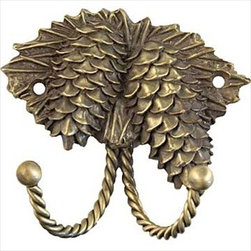Sierra Lifestyles Decorative Hook - Pinecone - Antique Brass - Sierra Lifestyles Decorative Hook - Pinecone - Antique Brass. Sierra Lifestyles  Cabinet Hardware, Cabinet  Knobs, Cabinet Pulls , Switch plates, Rustic cabinet hardware, Double Hook, Hook, Decorative Hook, Knobs, Pulls and Decorative Hardware Accessories