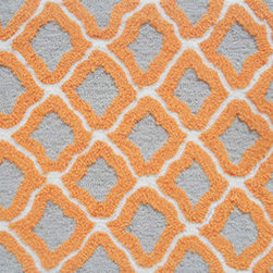 """The Rug Market - MARRAKESH ORANGE ,Area Rug ,size   16"""" X 27"""" - This contemporary rug is made of UV Poly and will surely add color to any space"""