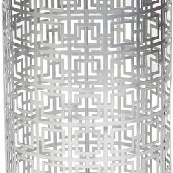 "Prima - Fenton Accent Table with Mirrored Glass Top, Nickel - The Fenton Accent Table with Mirrored Glass Top is a multipurpose table that can also function as a side or end table. Do not sacrifice style because of limited living space, this table measures 15"" x 15"" x 22.25"". It is the perfect size to bring into your home for both function and style. The table features an iron frame with a mirrored glass table top. Choose your finish option, available in Nickel or Brass. This popular item has free shipping and ships to your home in 1 week."