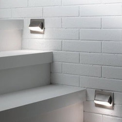 "Blauet - Blauet Tekno 1901 Recessed Wall Light Kit with Covering - The Tekno Wall Lights, ideal to light up stairways both indoors and outdoors, have a sleek contemporary design that is unlike anything else. The satin nickel, white, grey metallic, and black finish options allow you to match these step lights perfectly with any decor you have. The LED and halogen bulb selections are a great way to have everlasting light for added comfort while walking up and down stairs in dark areas. Learn more about The Tekno 1901 Recessed Wall Light below: FEATURES | SPECIFICATIONS  FEATURES: -Recessed wall light. -Tekno collection. -White, grey metallic, black, and satin nickel finish options. -Matte white glass shade. -Recessed Housing Available. -LED and halogen bulb options available. Back to top SPECIFICATIONS: -Halogen accommodates: (1) 20 watt T3 G4 base 12V bulb (included). -LED accommodates: (1) 4 watt grid 120V bulb (included). -Overall dimensions: 3.625""H x 4.625""W x 1.25"" Projection. Specifications Back to top"