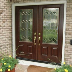 Entrance Doors - This french style entrance door with decorative half glass, can add a beautiful entry way to your home.