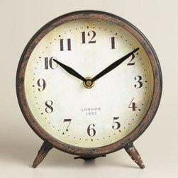 Small Black Charlie Clock -