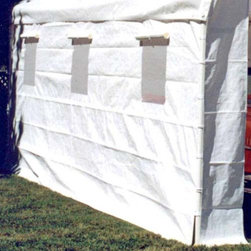 """Powell & Powell - King Canopy Side Wall Kit with Windows - SWK1020WW-2 - Shop for Sheds and Storage from Hayneedle.com! Side Wall Kit with polyethylene windows for select 10' x 20' canopies. Use only with product codes that begin with """"PP.""""Allow extra light in while providing extra shielding!"""