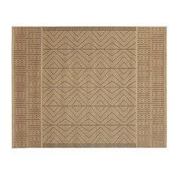 Quil Diamond Indoor/Outdoor Rug, 3 x 5', Neutral - Based on an early 20th-century African rug, ours has a flat weave that mimics the original grass cloth. Click here for {{link path='pages/popups/wool_rug_care_popup.html' class='popup' width='480' height='300'}}recommended care{{/link}}. Woven of synthetic yarns. Use with our Rug Pad (sold separately) to help extend the life of your rug. Imported. Internet Only. Read more on our blog about the inspiration behind this product.