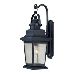 Savoy House - Savoy House 5-3554-25 Barrister Wall  Mount Lantern - The Barrister Lantern collection boasts classic styling that will warm every home's exterior with an inviting glow. The Slate finish is the perfect companion to the Clear Seeded glass.