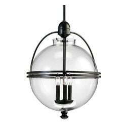 Cade- Pendant Light - Iron Ball Pendant with 3 Lights