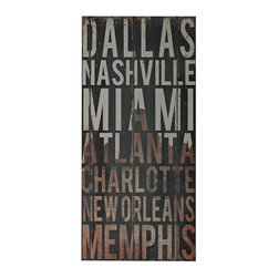 Joshua Marshal - American Cities 3-American Cities Wall Decor IIi - American Cities 3-American Cities Wall Decor Iii