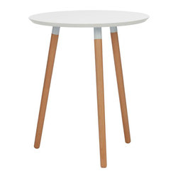 IMPORT LIGHTING & FURNITURE - Halo Dining Table, White, Round/27.6'' - Dimensions: