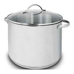 Cuisinox - Deluxe 17 Qt Covered Stock Pot - Cuisinox Deluxe receives high scores for performance and value. Meticulously designed and made of high quality 18/10 stainless steel and tempered glass lids. This collection is extensive allowing any chef to produce consistently outstanding results. This 17 qt. stockpot has a glass lid, graduated interior markings, and comfortable stay cool handles.