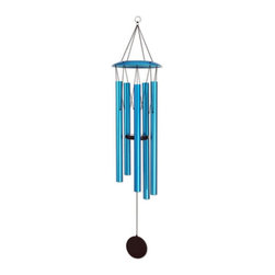 Exhart - Exhart Large 55 in. WindyWinds Wind Chime - 40260 - Shop for Windchimes Bells and Gongs from Hayneedle.com! It's a breeze to add color and music with the Exhart Large 55 in. WindyWinds Wind Chime. This large wind chime features five colorful aluminum tubes and a wood clapper. Available in a variety of finish options.About ExhartA family-owned and operated company based out of Chatsworth California Exhart creates lawn garden and lighting products. Short for extraordinary art Exhart is best known for whimsical garden statues wind chimes and unique outdoor lighting designs.