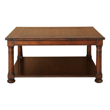 Middleton Coffee Table - The Middleton collection has a strong sense of tradition that stems from its rich finish, meticulous mosaic design and its handcrafted details. These design details are a welcome highlight of the collection, adding an interesting depth to each heirloom quality piece.