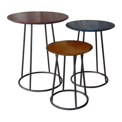 Moe's Home Collection - Moe's Home Metal 3 End Tables - 3 end tables belongs to metal collection by Moe's home collection