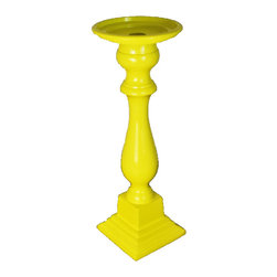 Modelli Creations - Powder Coated Aluminum Pillar Candle Holder - Metal pillar candleholder. Made in India. Wipe clean.