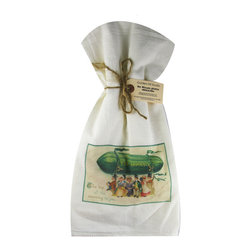 Top of the Morn    Flour Sack Towel  Set of 2 - A fabulous set of 3 flour sack towels. This set features a wonderful antique print of St. Patrick's Day.   These towels are printed in the USA by American Workers!
