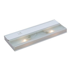 Kichler Lighting - Kichler 12-1/4-Inch Xenon Under Cabinet Light - 10580WH - Made of steel, this direct wire xenon cabinet light will prove a durable and functional addition to any home. A layer of frosted glass covers the two bulbs and a hi-low rocker switch adds the convenience of one-touch illumination. This cabinet light is perfect for subtly brightening a kitchen or utility-room countertop, or a garage workbench. Includes a single BX connector, and an integrated electronic low-voltage transformer. Takes (2) 18-watt xenon T5 bulb(s). Bulb(s) included. UL listed. Dry location rated.