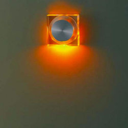 Led Square Recessed By Luxello LED - LED Square Recessed is part of a collection of architectural recessed LED wall lights. Each unit is finished in brushed aluminum with a square PMMA acrylic cover. A spring mechanism hold the unit in the wall.