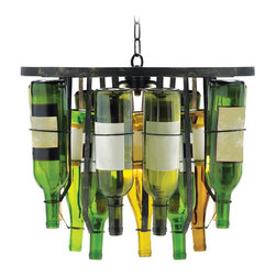 Sterling Industries - Collectors Two-Light Bottle Chandelier - -Bottles not included Sterling Industries - 93-139