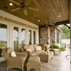 Traditional Patio by Tony Roberts Custom Homes