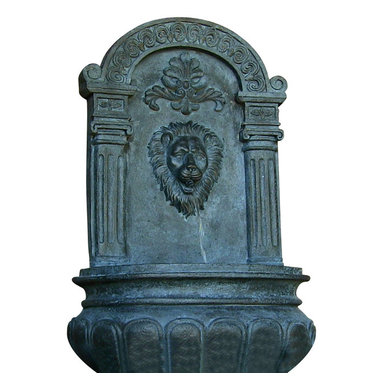 Sunnydaze Decor - Imperial Lion Outdoor Solar Wall Fountain, Lead - The lion's share. Add a little old-world artistry along with the soothing sound of water to your deck, patio or yard with this wall fountain. Powered by the sun, it has the look and feel of its stone counterparts without the high price tag.