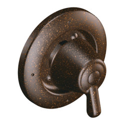 Moen - Moen T4171ORB ORB 3-function Transfer Valve Trim, Single Lever Handle - Moen T4171ORB is part of the Moen bath collection. Moen T4171ORB is a 3-Function Transfer valve trim kit. Moen T4171ORB has an Oil Rubbed Bronze finish. Moen T4171ORB Transfer Valve only trim fits the MPact common valve system and requires Moen's 3372 series valve to make this trim complete. Valve sold separately. From finishes that are guaranteed to last a lifetime, to faucets that perfectly balance your water pressure, Moen's ets the standard for exceptional beauty and reliable, innovative design. Moen T4171ORB has rotational control with 180 ? of rotation with stops. Moen T4171ORB is a single lever handle transfer valve trim only and the handle diverters the direction of water flow. Moen T4171ORB Transfer valve only single handle trim provides for ease of operation. Moen T4171ORB is approved by ADA. Oil Rubbed Bronze is an exclusive finish from Moen and provides style and durability. Moen T4171ORB metal lever handle meets all requirements of ADA ASME A112.18.1/CSA B125.1. Lifetime Limited Warranty.