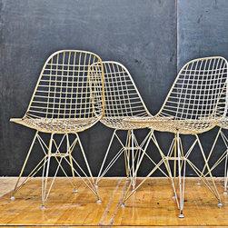 Eames Nylon White DKR Wire Chairs - Dino Paxenos, Modern50